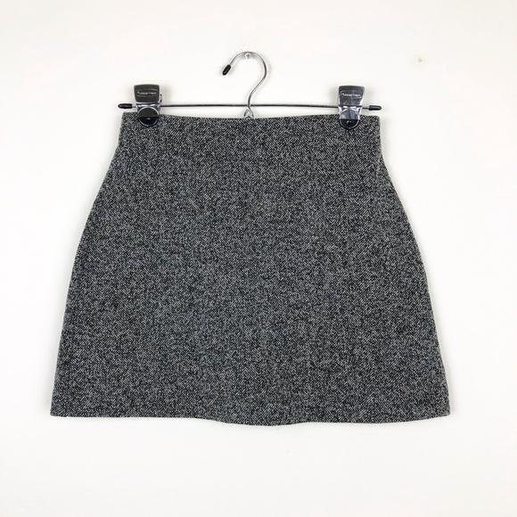 Topshop Dresses & Skirts - Topshop Black and Gray Mini Skirt